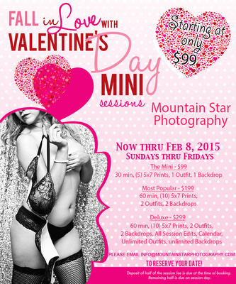 Mountain Star Photography El Paso Boudoir Valentines Minis